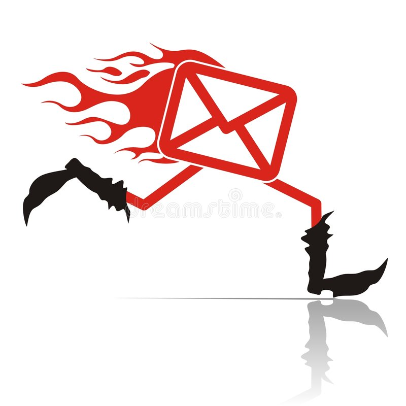 Download Hot mail stock vector. Illustration of walker, isolated - 7135120