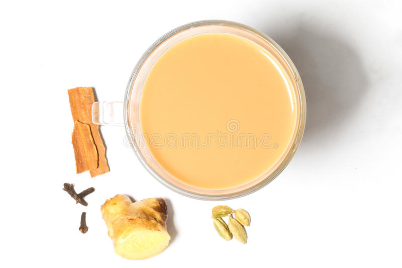 Hot Masala Tea royalty free stock photography
