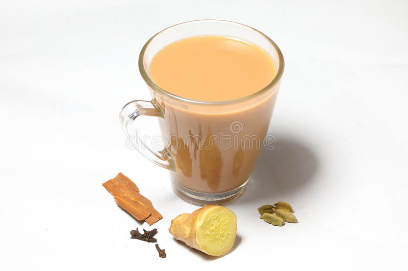 Hot Masala Tea stock image