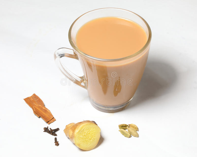Hot Masala Tea stock images