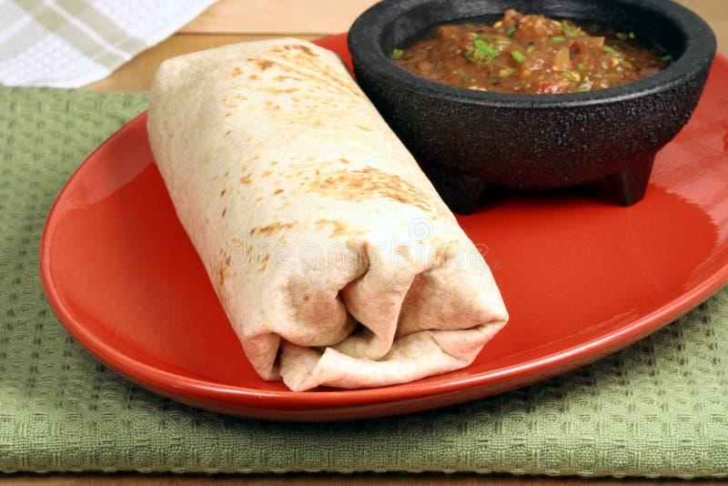 Hot mexican burrito royalty free stock photo