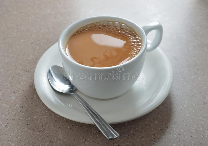 Hot milk tea stock image
