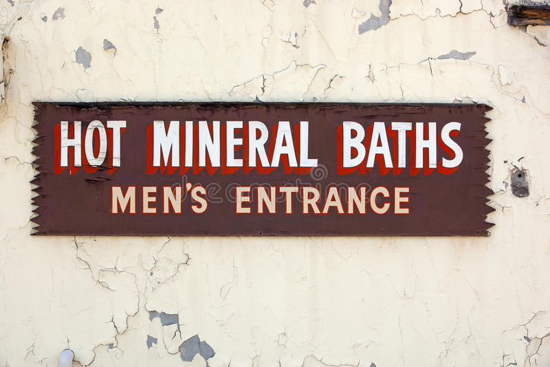 Hot Mineral Baths royalty free stock images