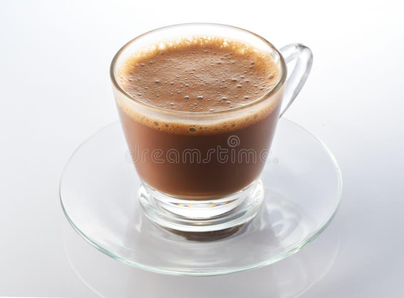 Hot mjölkar kaffe royaltyfri foto