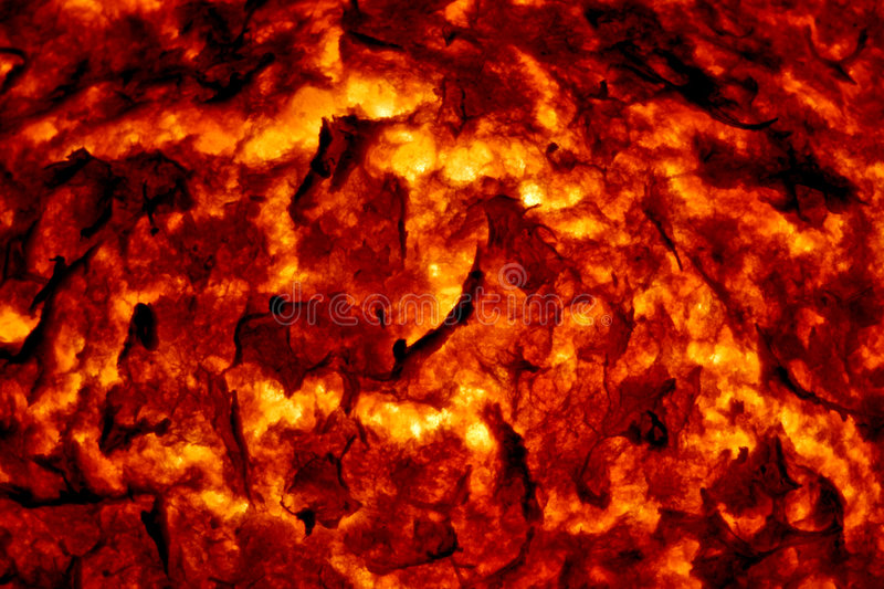Hot Molten Lava 3. The cracking crust of a hot flow of magma royalty free stock photos