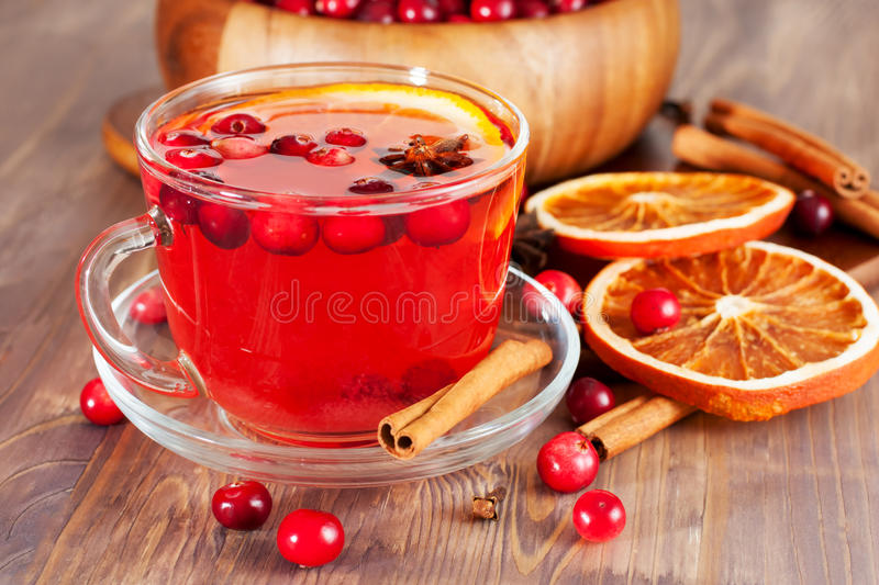 Download Hot Mulled Wine With Orange Stock Photo - Image: 34923652