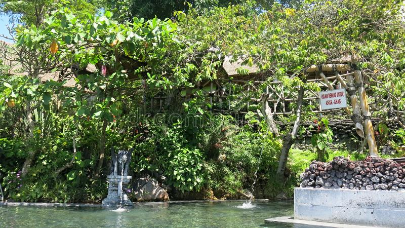 Hot natural springs in the mountains at Lake Batur. Bali Island in Indonesia stock image