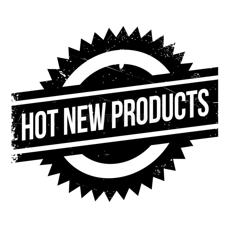 Hot New Products rubber stamp. Grunge design with dust scratches. Effects can be easily removed for a clean, crisp look. Color is easily changed vector illustration
