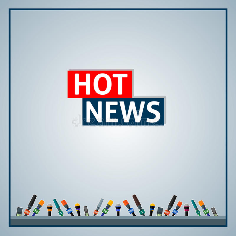 Hot news stock illustration