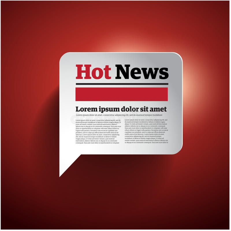 Hot News button royalty free illustration