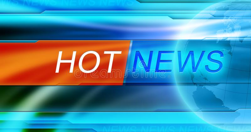 News background wallpaper. Hot news title at blue background. royalty free stock image