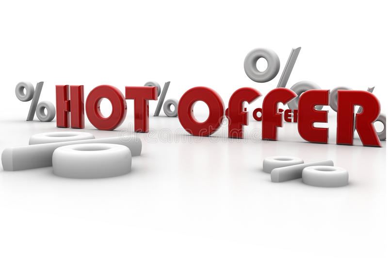 Hot Offer And Percentage Royalty Free Stock Images