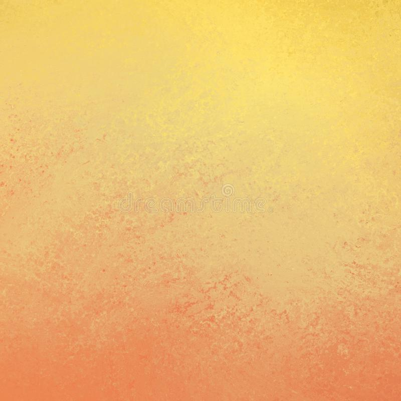 Hot orange yellow background texture with abstract sponged or vintage grunge design, warm autumn or fall stock illustration