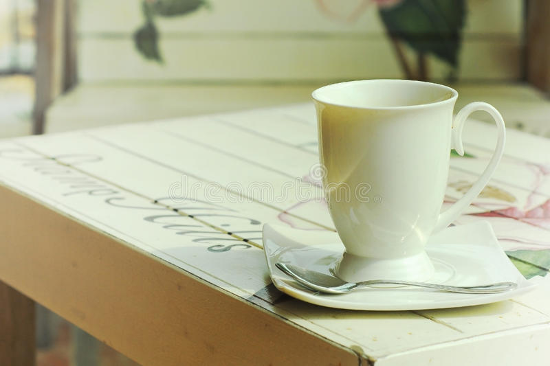 Download Hot On Paint Wooden Table With Vintage Style Stock Photo - Image: 41858248