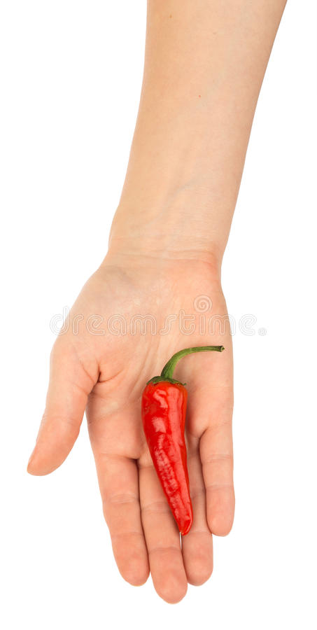 Hot paper in humans hand royalty free stock image