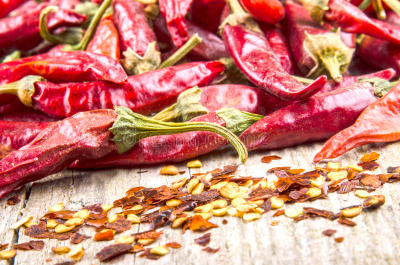 Download Hot Paprika And Chilli Flakes Stock Photo - Image of ingredient, spice: 26622120