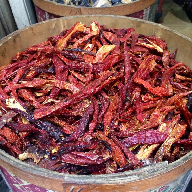 Hot pepper cayenne royalty free stock photos