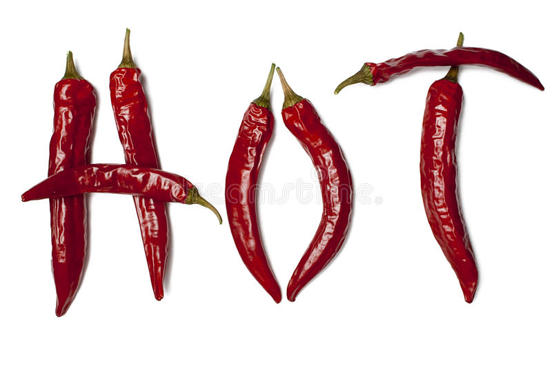 Hot peppers royalty free stock images