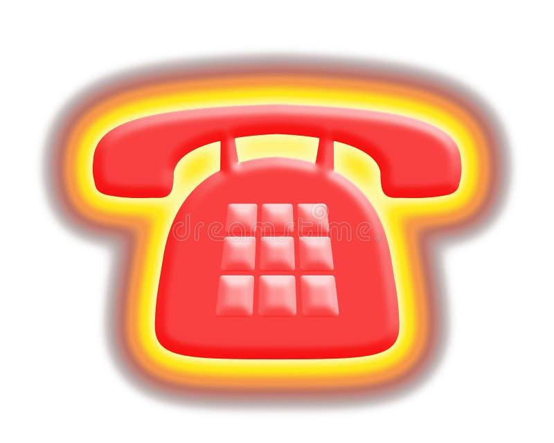 Hot phone royalty free illustration