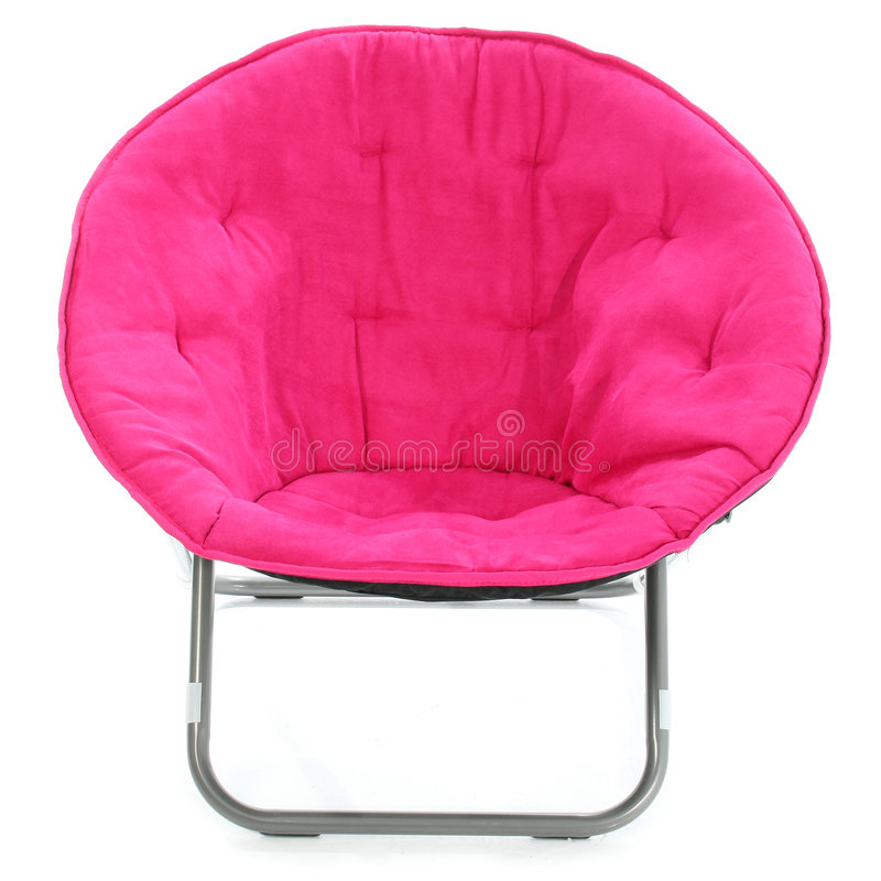 Download Hot Pink Chair Over White stock photo. Image of fabric - 470958