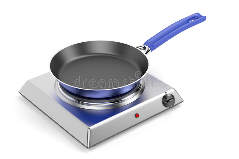 Hot plate and frypan stock illustration