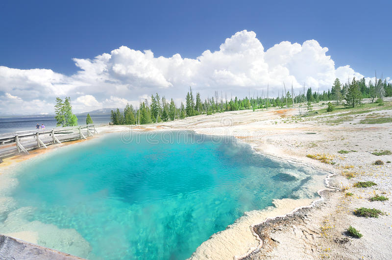 Download The Hot Pool At West Thumb Royalty Free Stock Images - Image: 22538519