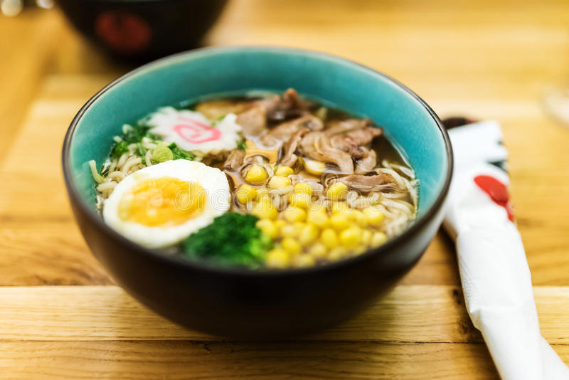 Hot pork ramen royalty free stock images