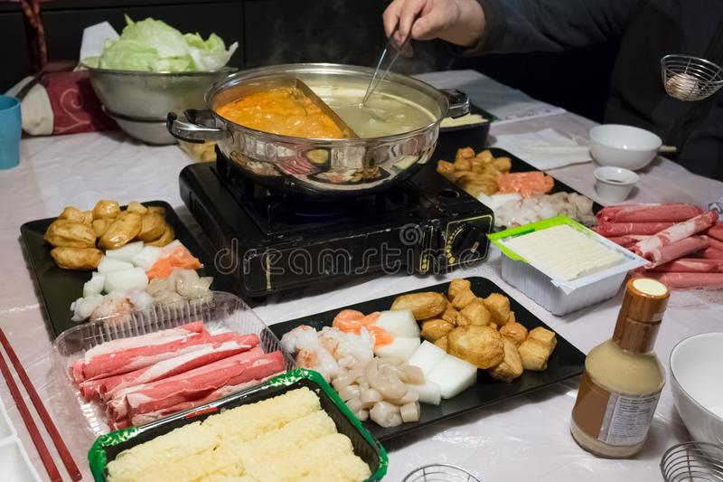 Hot Pot Dinner royalty free stock photography