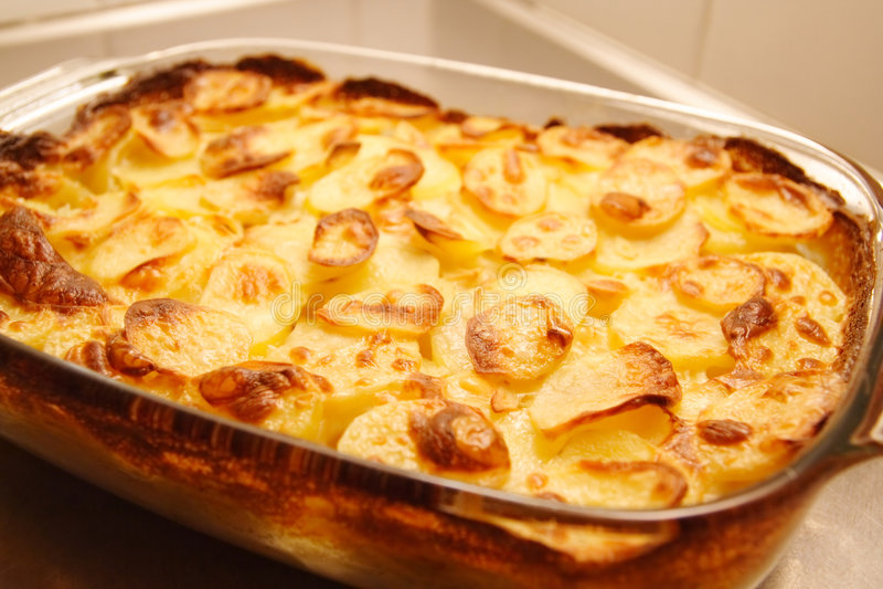 Hot potatoes stock photos