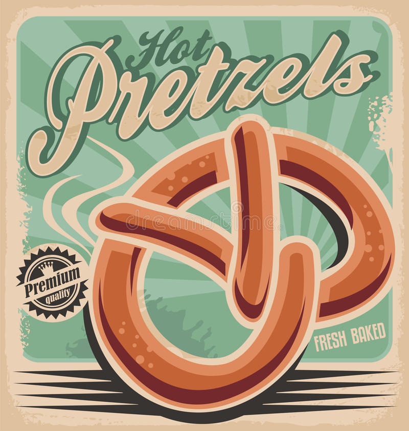 Hot pretzels stock illustration