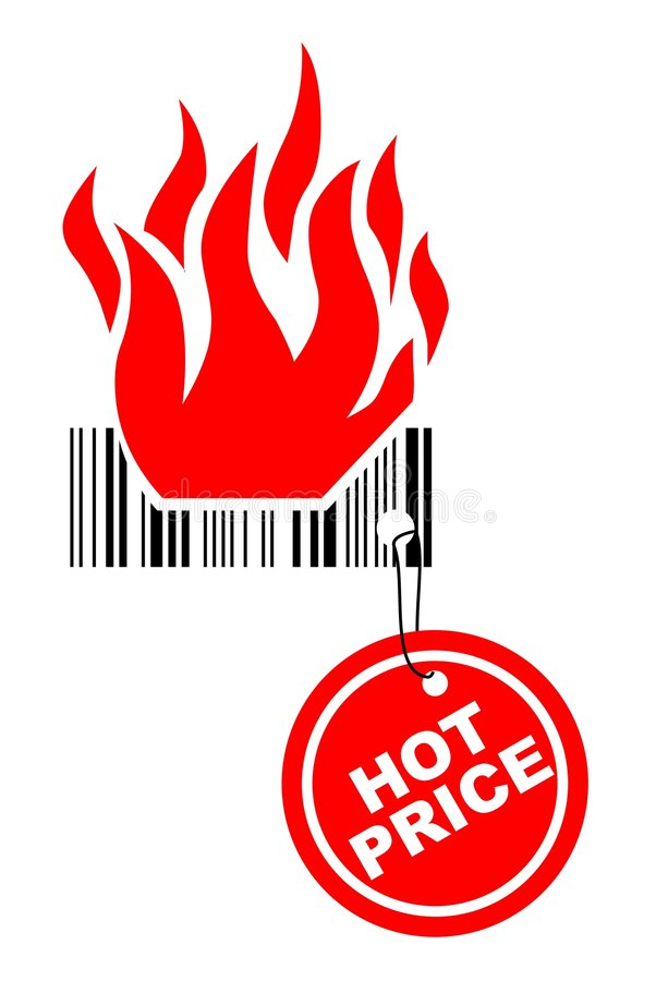 Hot price vector illustration