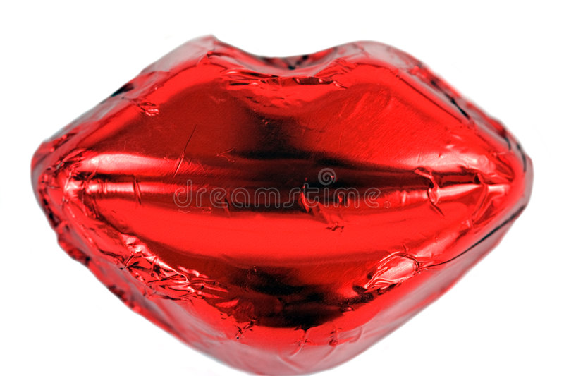 Hot Red Lips Royalty Free Stock Photos