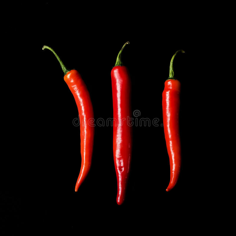 Hot red peppers royalty free stock photo