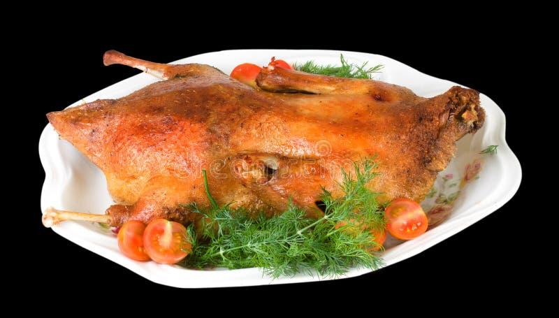 Hot roast duck for xmas royalty free stock image