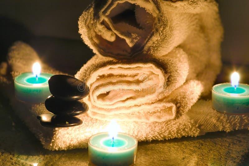 Hot rock massage royalty free stock photo