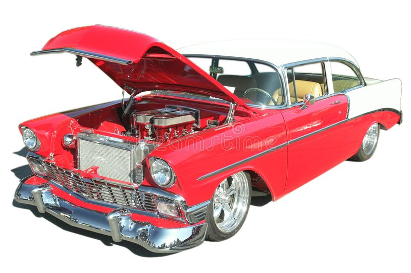 Hot Rod 57 Chev Car Isolated royalty free stock photos