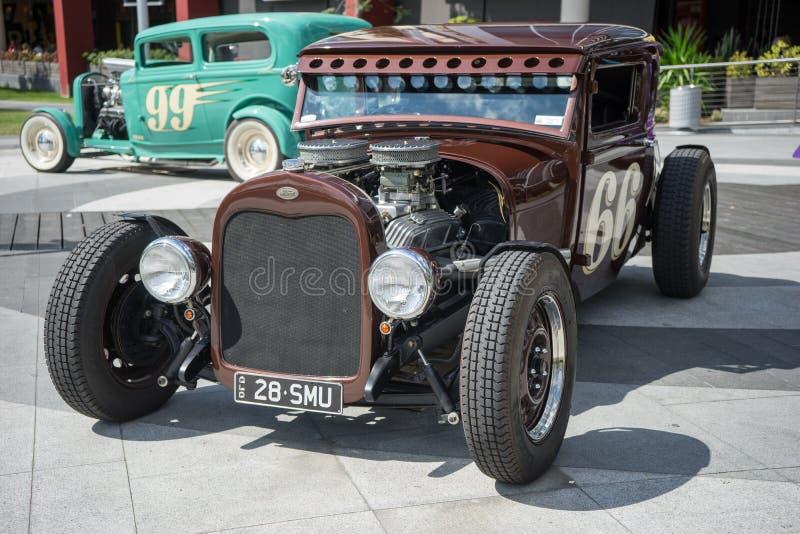 Hot rod car show royalty free stock image