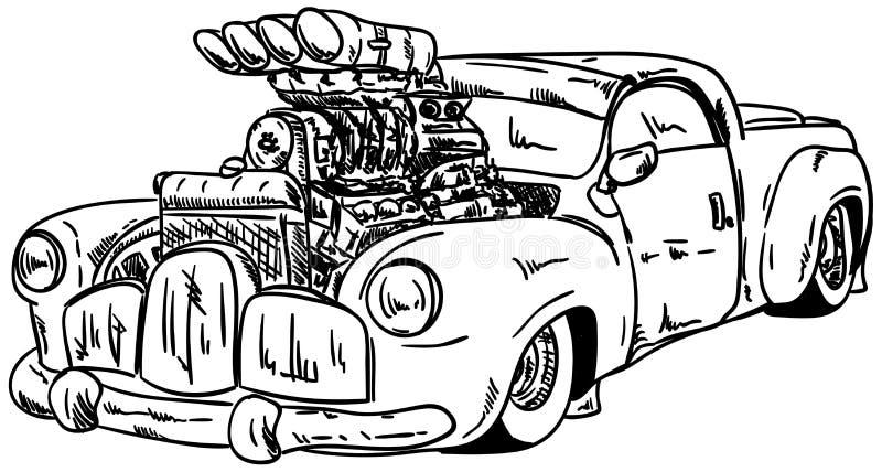 Hot-rod car stock illustration