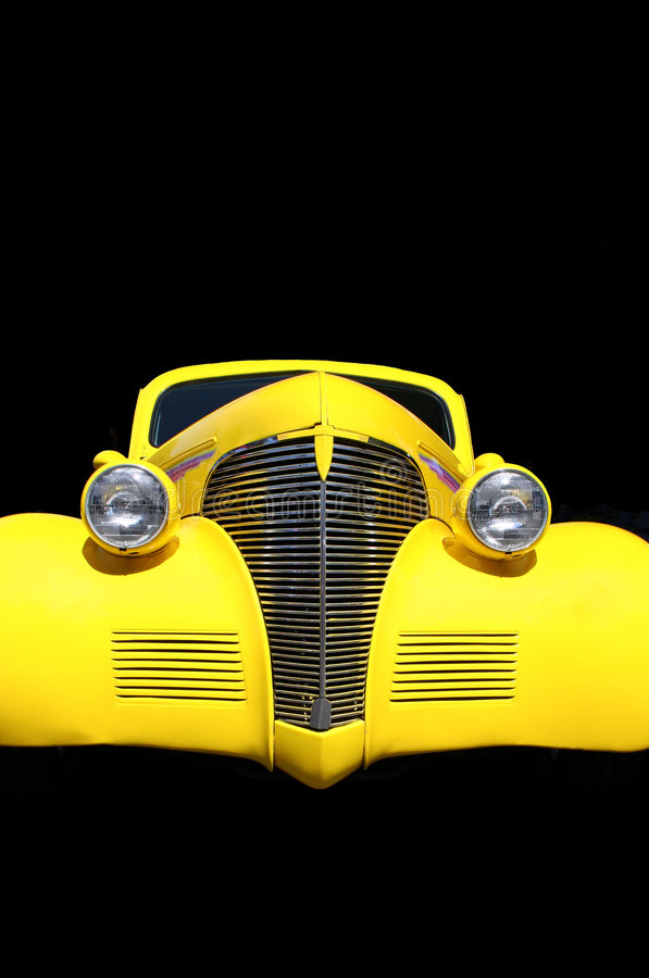 Hot Rod isolated in black stock photo