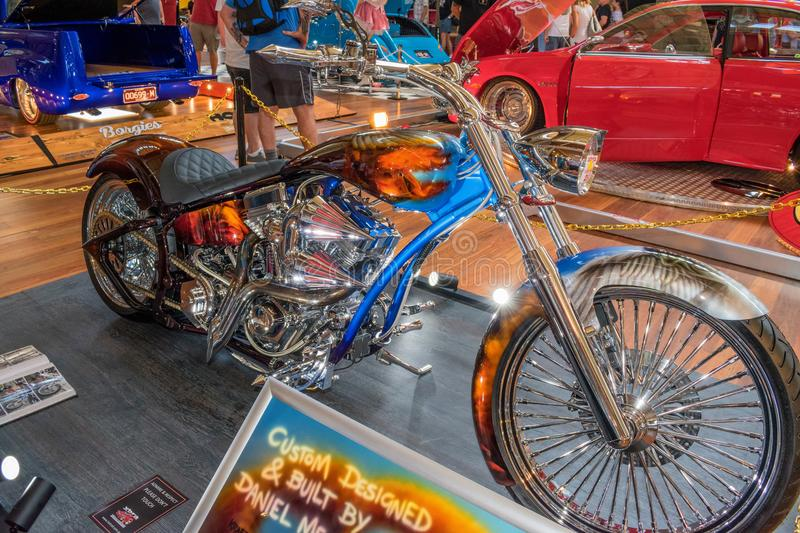 Hot rod motorcycle 2. Hot rod motorcycle at Victorian Hot Rod & Cool Rides Show in Melbourne, Australia stock images