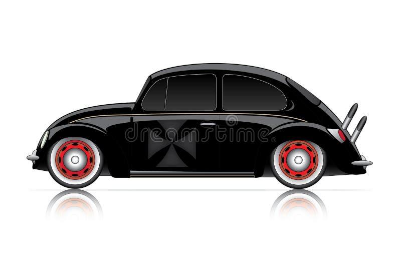 Hot rod noir compact illustration de vecteur