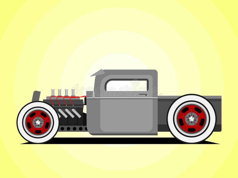 Hot rod truck stock images