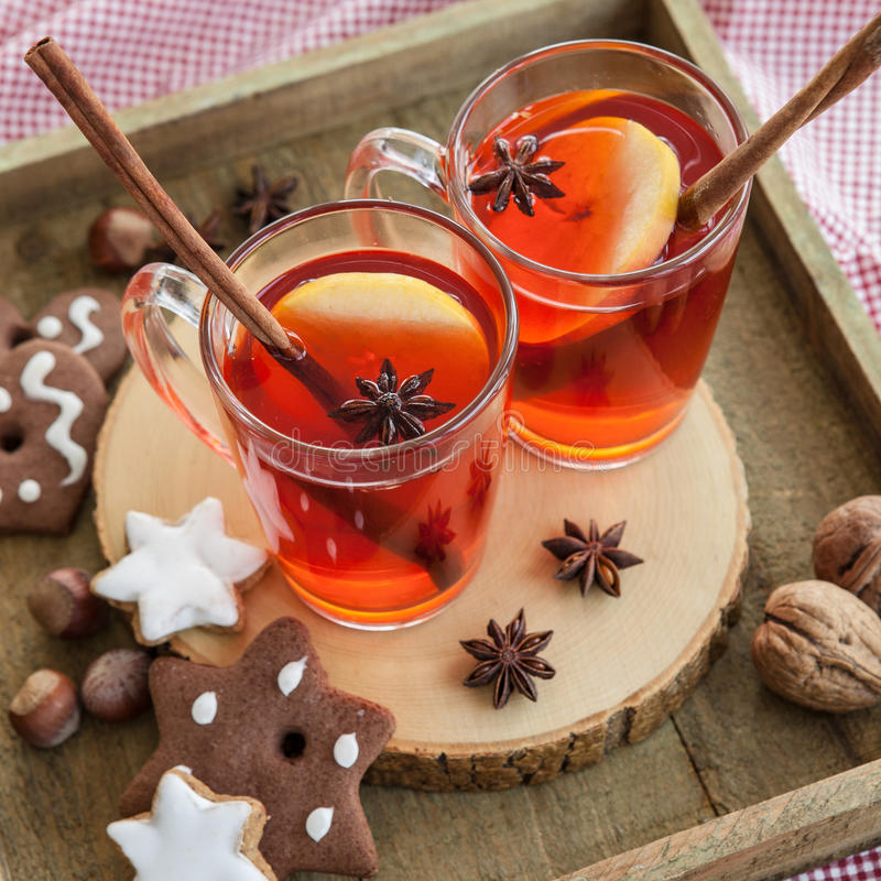 Hot Rum Punch With Apple Stock Image. Image Of Christmas