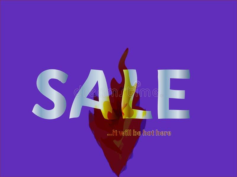 Hot Sale Fiery Banner vector illustration
