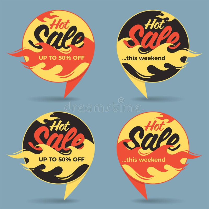 Download Hot Sale Price Offer Deal Vector Labels Stickers. Circle Form Wi Stock Vector - Illustration of flame, advertising: 89215531