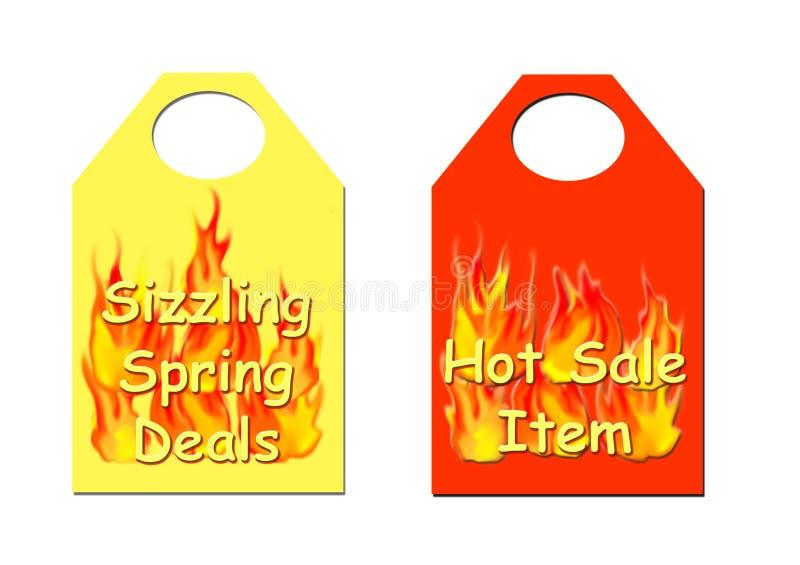 Hot sale tickets stock illustration