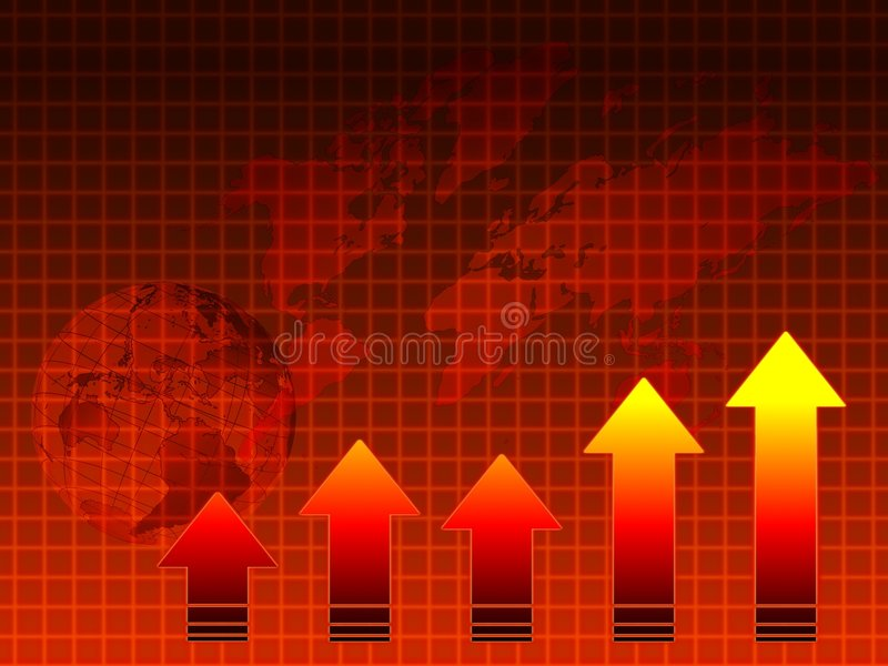 Hot sales: graph, map, globe stock photo