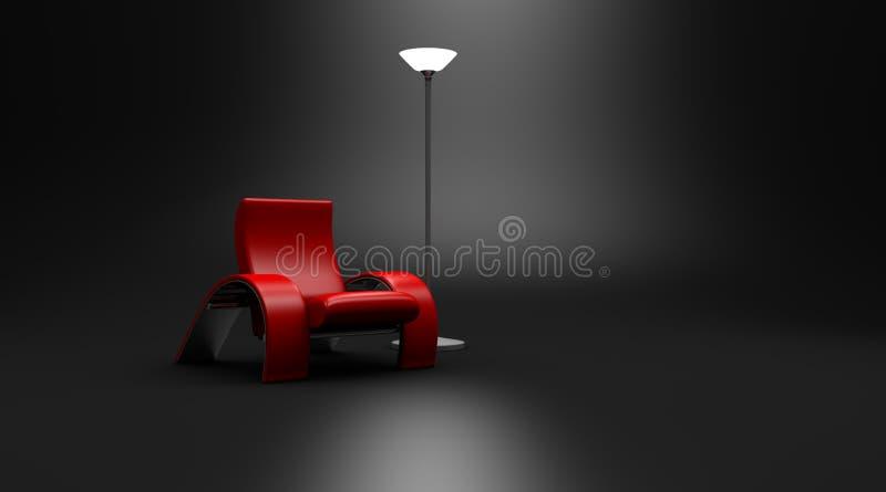 Hot Seat Modern Chair Dark Room royalty free stock photos