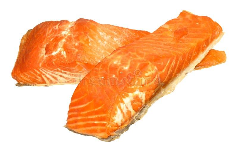 Hot Smoked Salmon Fillets royalty free stock image