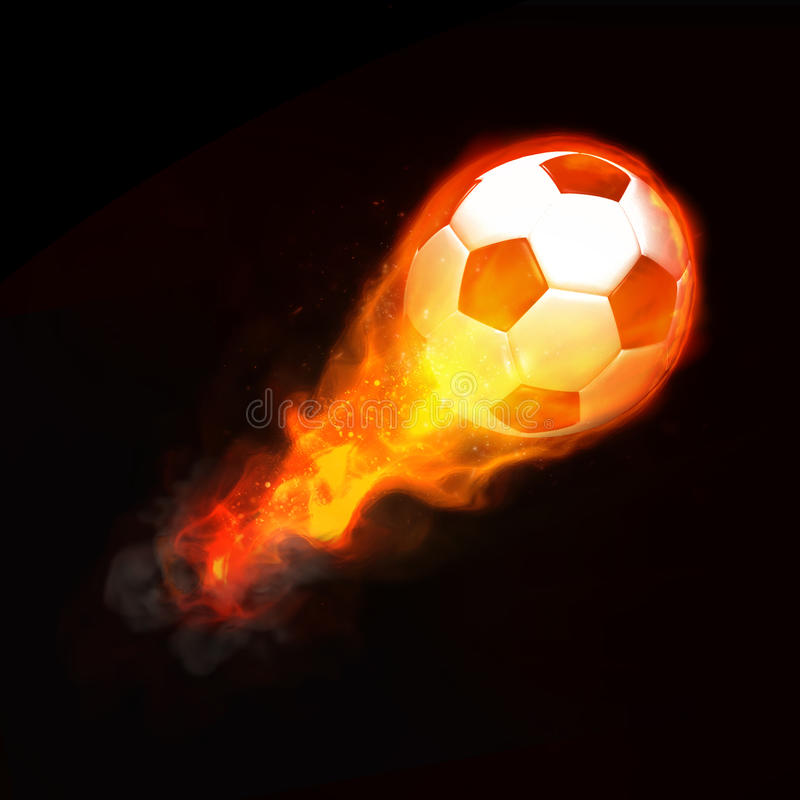 Download Hot soccer ball stock photo. Image of black, vertical - 14385374